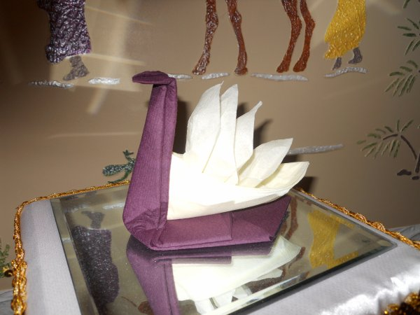 pliage serviette le signe blog de creationsissi. Black Bedroom Furniture Sets. Home Design Ideas