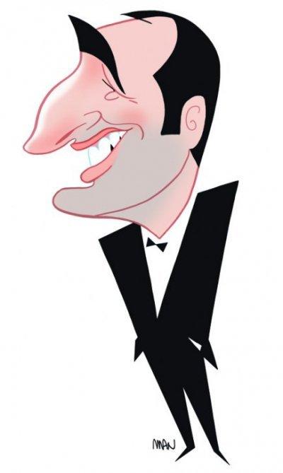 Sp cial caricatures acteurs fran ais dessin n 2 2 for Dujardin 817